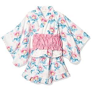[タキヒヨー] 椿柄浴衣風3点セット ガールズ 342447204 ピンク 日本 120 (日本サイズ120 相当)