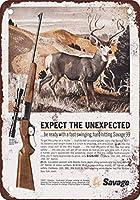 Shimaier ブリキ 看板 壁の装飾 メタルサイン 1963 Savage 99 Rifles ウォールアート バー カフェ 30×40cm ヴィンテージ風 メタルプレート