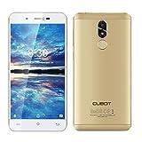 Cubot R9 スマートフォン 5.0インチ Android 7.0 2GB RAM+16GB ROM 5MP+13MPカメラ 3G WCDMA クワッドコア GPS 2600mAh 指紋認識 メタルボディ(ゴールド)