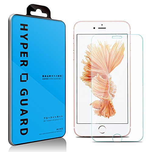 【第2世代】 交換保障 ブルーライトカット 92% 日本製 旭硝子使用 iPhone6 Plus / iPhone6s Plus 対応 強化ガラスフィルム 極薄 0.33mm 3dタッチ 硬度9H ラウンドエッジ加工 保護シート ガラスフィルム 国産 アイフォン6 プラス アイフォン6S v005 15AC11-4-CLRvb