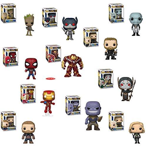 Funko POPマーベルAvengers infinity Warアイアンマン、ソー、アイアンSpider、キャプテンアメリカ、Thanos、ブラックWidow、Corvusグレイブ、エボニーMAV、Proximaミッドナイト、Groot and Hulkbuster Vinyl Figures Set