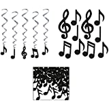 10 Music Note Cutouts 5 Music Note Whirls Musical Note Confetti Bundle