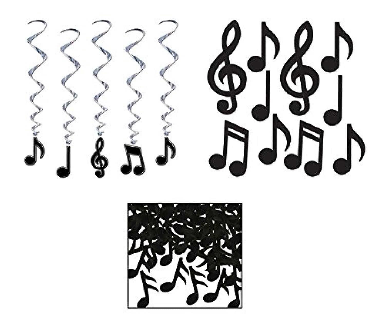 10 Music Note Cutouts 5 Music Note Whirls Musical Note Confetti Bundle