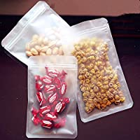 """マット厚バルク食品ストレージクリアパッケージバッグZip Lock透明プラスチック安全食品グレードTreat Gift WrappingナットSnack Packing材質ツールバッグResealableジッパーバッグ 10x15cm (3.9""""x5.9"""") クリア"""