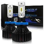 HOCOLO LEDヘッドライト電球オールインワン変換キット - H8 H11 H9-8,000 Lm 6500Kキセノンホワイトブリリアントブライトライティングチップヘッドライトロービーム/フォグランプ - 1年間保証(H8 / H11 / H9)