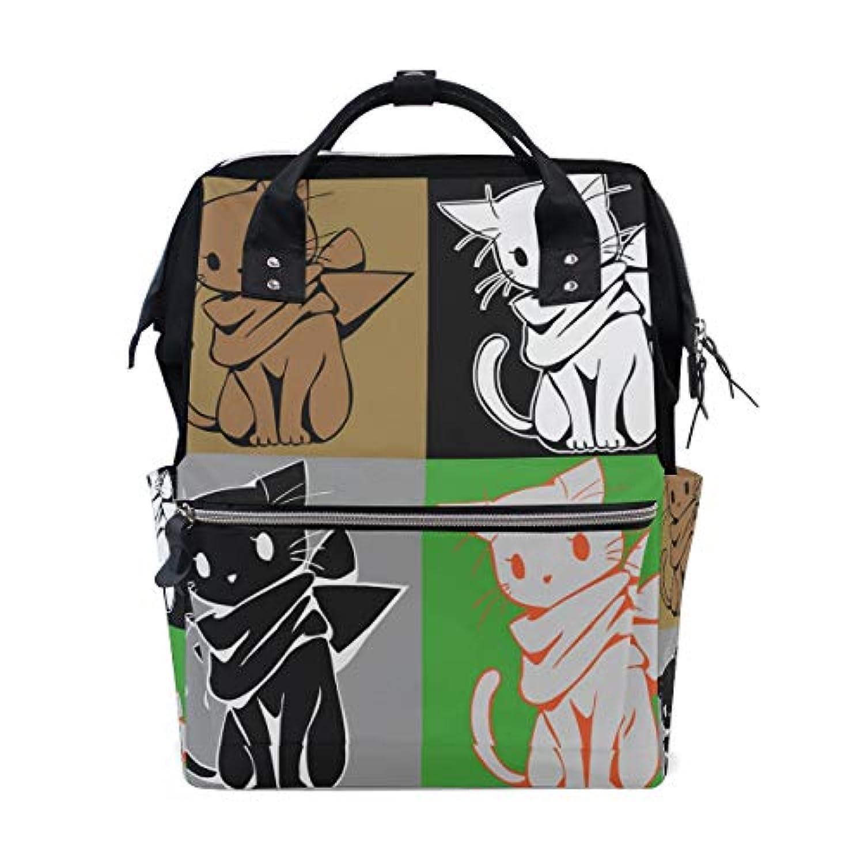 ANNSIN マザーズバッグ ママバッグ リュック バックパック ハンドバッグ 3WAY 多機能 防水 大容量 軽量 シンプル おしゃれ ベビー用品収納 出産準備 旅行 お出産祝い 猫 可愛い