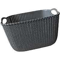 SunniMix バスケット オーガナイザー 収納 バスケット 実用的 収納 便利 全2色3サイズ  - ブラック, L