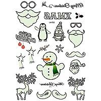 PURUI 1個ルミナス一時的な入れ墨ステッカーパーティー装飾クリスマスカーニバルパーティー新年の装飾クリスマスの装飾 (Color : B)