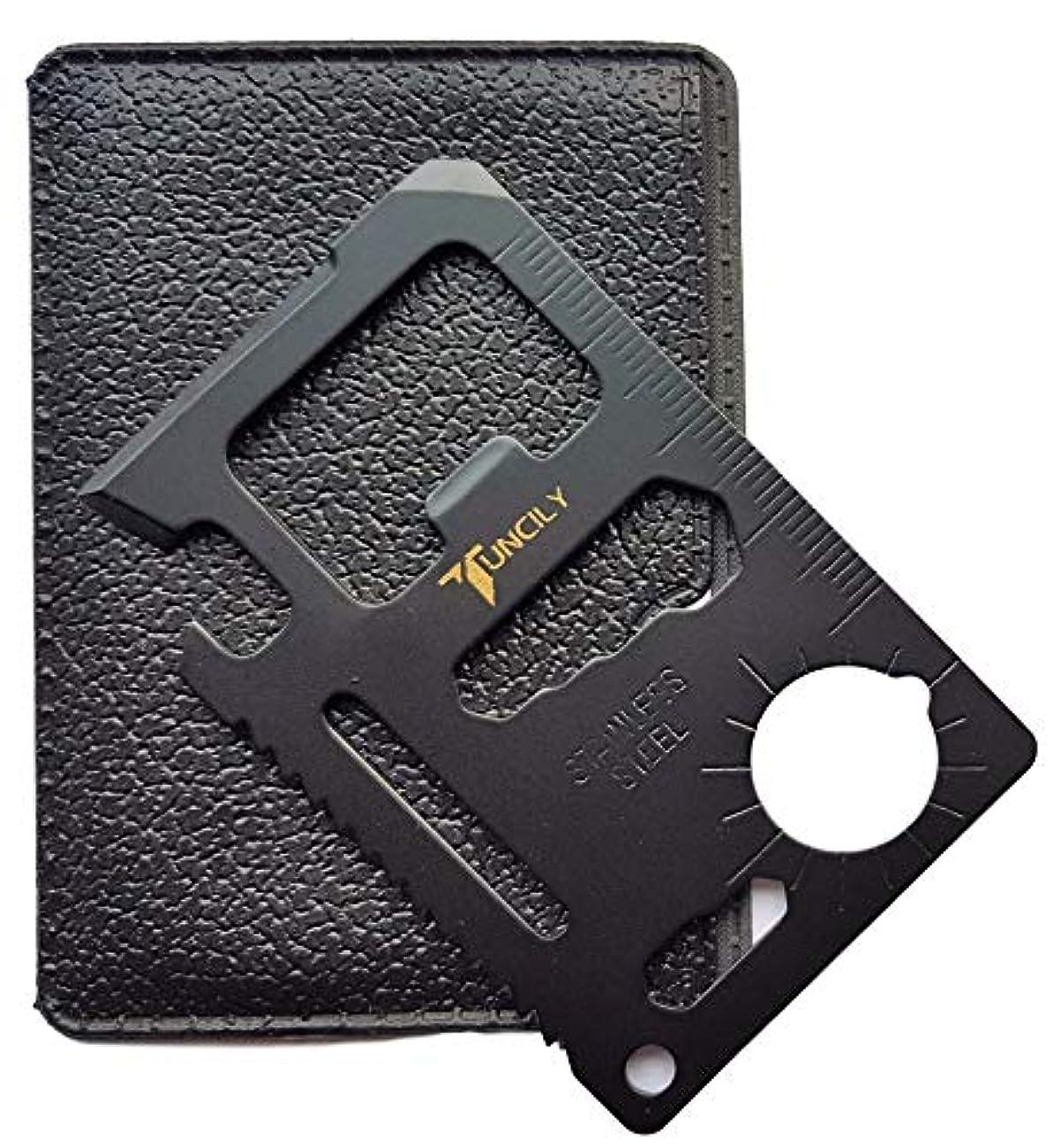 事前どこにも敬なクレジット?カードサバイバルツール – 11 in 1マルチビール栓抜きポータブル財布サイズポケットマルチツール LYSB01M3Y66J5-SPRTSEQIP