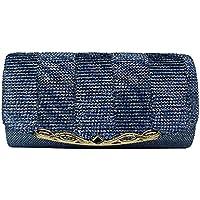XUNFEI Shiny Women Evening Bag Glitter Party Handbag Wedding Clutch With Chain