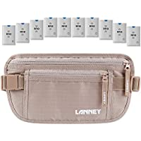 Travel Money Belt RFID Blocking for Men Women Waist Wallet with 10 RFID Sleeves