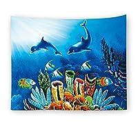 Chaopeng 海底ワールドシリーズホームデコレーションタペストリー壁掛け壁の装飾ビーチタオル毛布 (Color : 1)