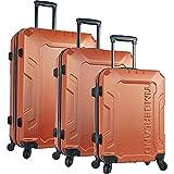ティンバーランド ティンバーランド バッグ スーツケース Boscawen 3-Piece Hardside Spinner Luggag Burnt Oran [並行輸入品]