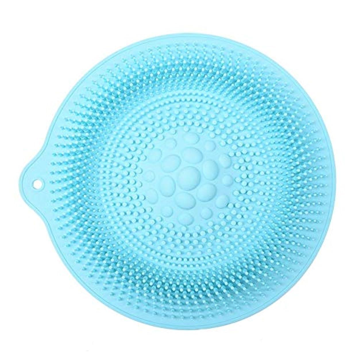 やさしく依存するテクトニック足洗いマット 安全 非毒性 無臭 多機能 グレート 使いやすい フットケア ボディブラシ マッサージシート お風呂用 32cm