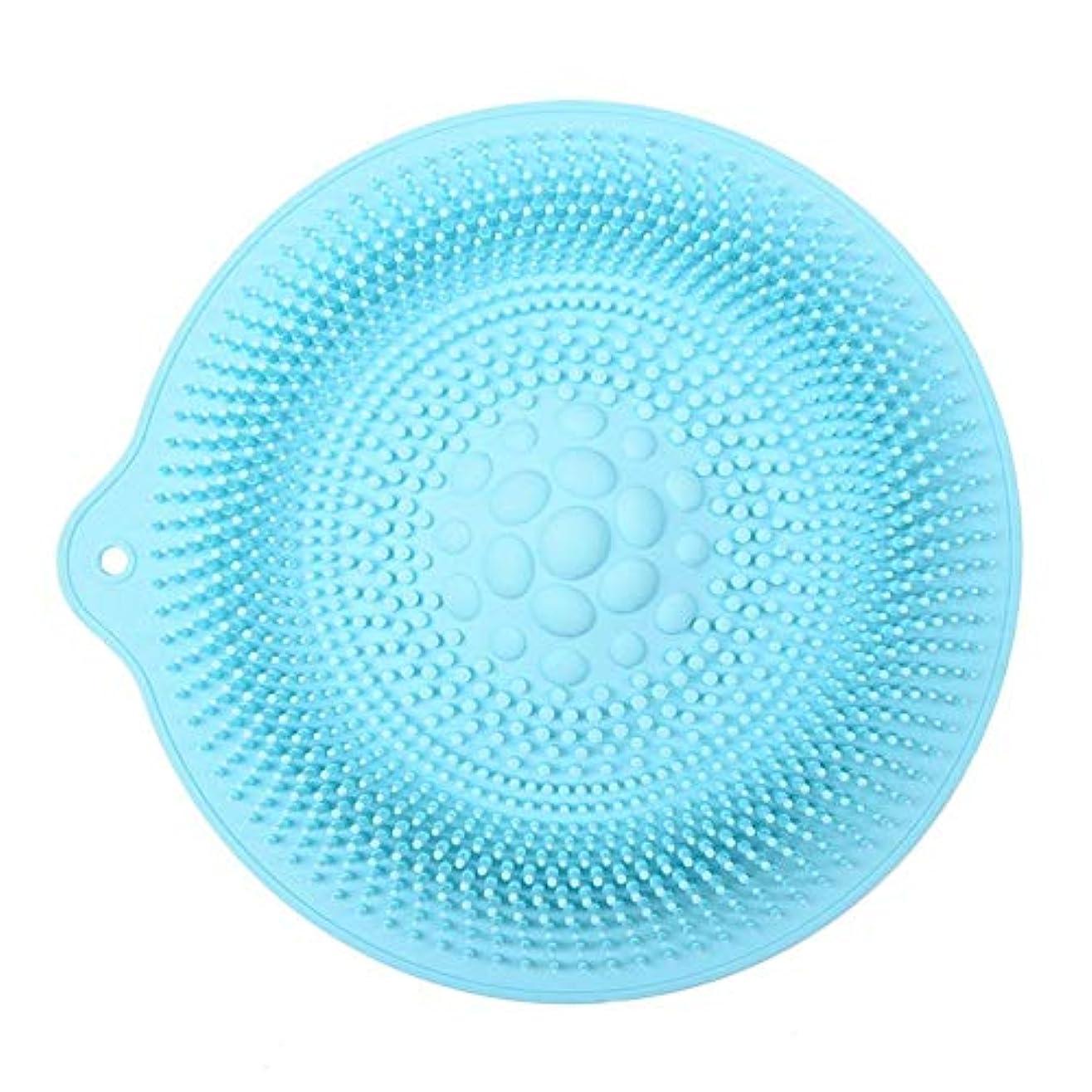 ボットラベンダーアリ足洗いマット 安全 非毒性 無臭 多機能 グレート 使いやすい フットケア ボディブラシ マッサージシート お風呂用 32cm