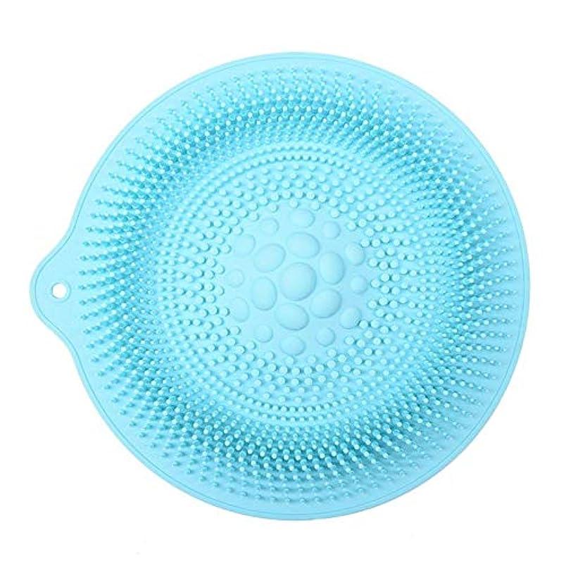 内向き用心する守銭奴足洗いマット 安全 非毒性 無臭 多機能 グレート 使いやすい フットケア ボディブラシ マッサージシート お風呂用 32cm