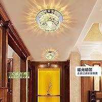 HuhuハイエンドSmallクリスタル廊下天井照明天井ダウンライトBull 's Eyeランタンコリドー照明Reflector Lamps 12cm