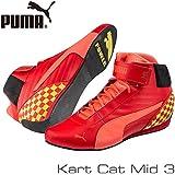 PUMA レーシングシューズ Kart Cat MID3 RED/YELLOW サイズ43(28.0cm)