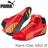 PUMA スポーツシューズ PUMA レーシングシューズ Kart Cat MID3 RED/YELLOW サイズ42(27cm)