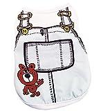 (ペット メモリー) Pet Memory 犬服 春 夏 綿製 ベスト サロペット風 ペット Tシャツ ペット 用品 お散歩 小型犬 中型犬 ライトブルー XL
