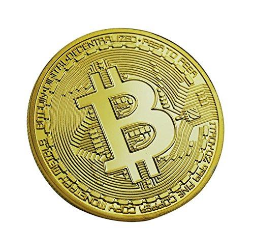 Keepjoy ビットコイン 金メッキ Bitcoin仮想通貨 コイングッズギフト ヨッロパ アメリカ コイン 記念硬貨 (ゴールデン)