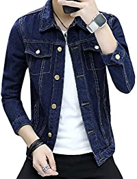 CEEN メンズ デニムジャケット スリム ジージャン ファッション カジュアル おしゃれ 快適 冬服 綿 アウター 秋服 長袖 黒