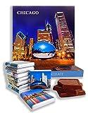 面白いシカゴシティフードギフト?「CHICAGO CITY」?美しいシカゴチョコレートセット! (夜)