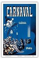 カーニバル・デ・ラ・ハバナ1946 - ハバナ、キューバ - 2月3月 - ビンテージな広告ポスター によって作成された エンリク・キャラヴィア・モンテネグロ c.1946 - アートポスター - 31cm x 46cm