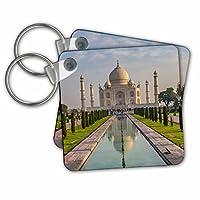 """3dRose Danita Delimont - 旅行 - インド。 タージ・マハルの庭園の眺め。 - キーチェーン。 2.25 x 2.25"""""""
