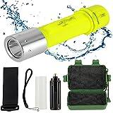 ATian 2000LM LED ダイビングライト CREE XM-L T6 LED 防水 水中懐中電灯 LEDライト
