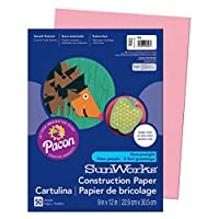 Construction Paper, 58 lbs., 9 x 12, Pink, 50 Sheets/Pack (並行輸入品)