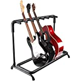 Yescom 7 Seven Multiple Guitar Folding Stand Bass Acoustic Guitar Holder Rack Display