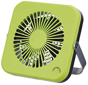 Pieria(ピエリア) 10cm コンパクトデスク扇風機 グリーン 2電源(AC,USB) 風量2段階切替