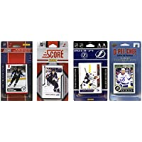 NHL Tampa Bay Lightning 4異なるライセンスTradingカードチームセット、ブラウン、1サイズ