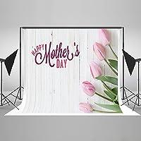 ケイト10x 6.5ft ( 3x 2m )母の日フォトリンクルピンク花ホワイト木製壁スタジオ小道具写真撮影背景背景幕シームレスno hj04008