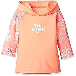 [ダカイン] [ キッズ ] 長袖 ラッシュ パーカー 女の子 (UV カット) / Toddler Girl's Hooded L/S / UPF50+ ラッシュガード WAI US 2T-(日本サイズ90 相当)