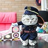 格好いい 犬 猫 ペット服 警察服 制服 お出掛け 散歩 小型犬 中型犬 (L)