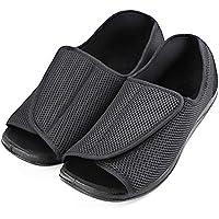 Men's Diabetic Footwear Extra Wide Slippers Adjustable Orthopedic Shoes Open Toe for Diabetic & Edema Elderly Men