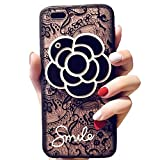 17e7368154 iPhoneソフトケースwith Elegance Camellia Flower回転ミラーiPlusクリアレース保護Tpu柔軟なケースカバーfor Apple  iPhone iPhone 8 Plus/7 Plus ZCH-SCH