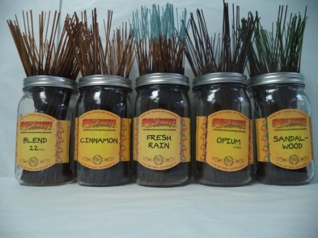 建築木品Wildberry Incense Sticks Best Sellerセット# 3 : 10 Sticks各5の香り、合計50 Sticks 。