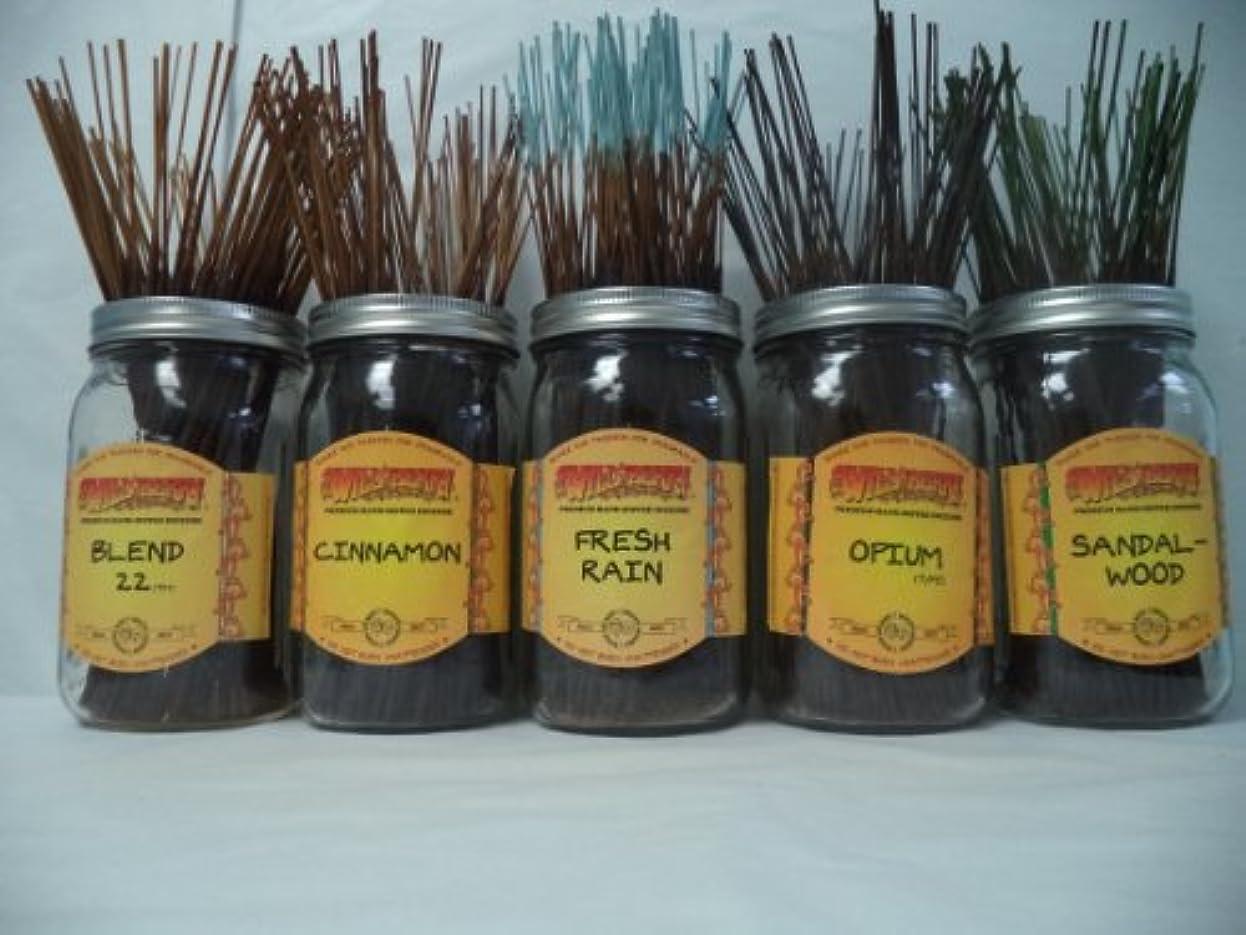 上下するスキャンダルスープWildberry Incense Sticks Best Sellerセット# 3 : 10 Sticks各5の香り、合計50 Sticks 。