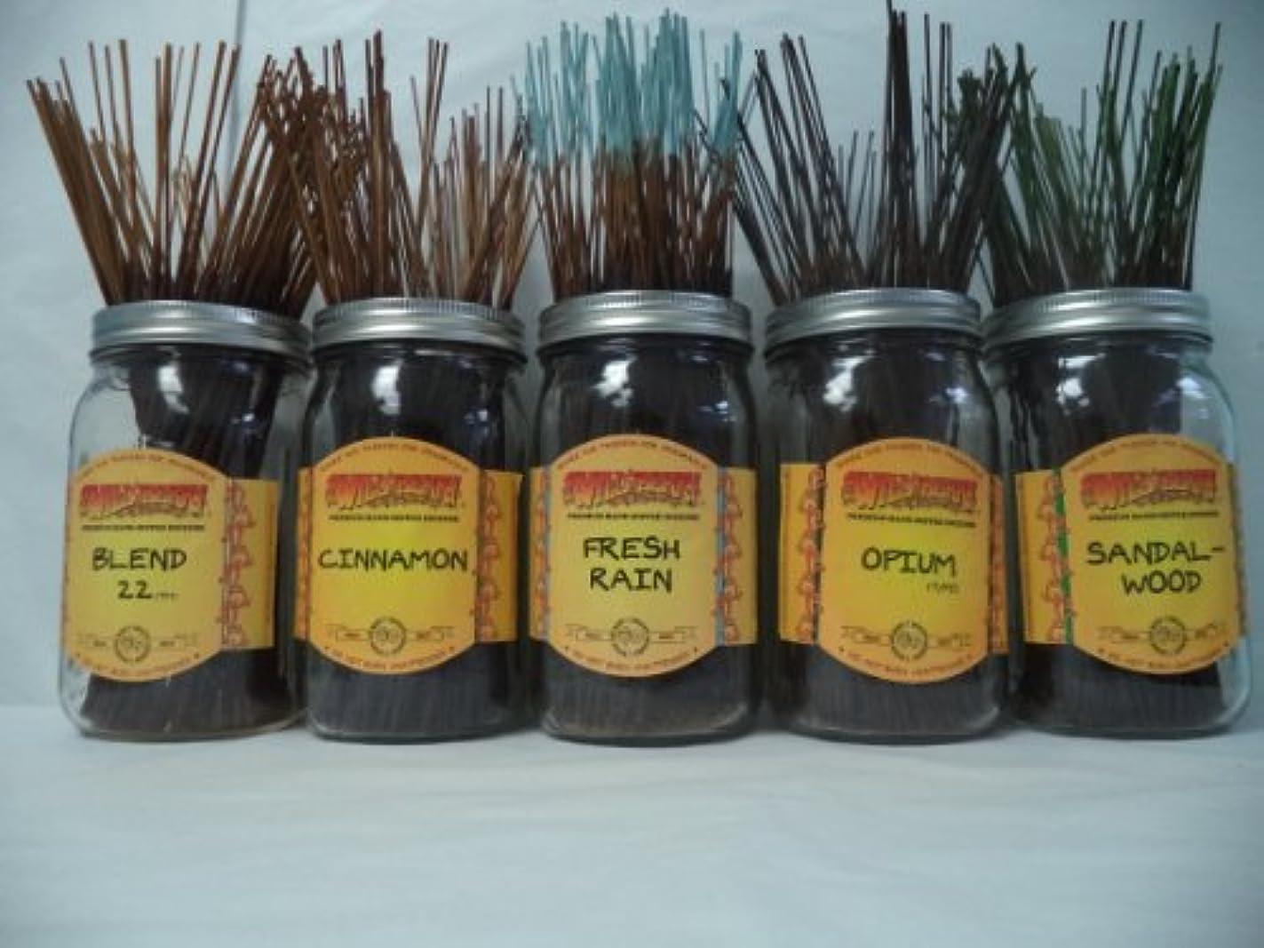 驚肉インサートWildberry Incense Sticks Best Sellerセット# 3 : 10 Sticks各5の香り、合計50 Sticks 。