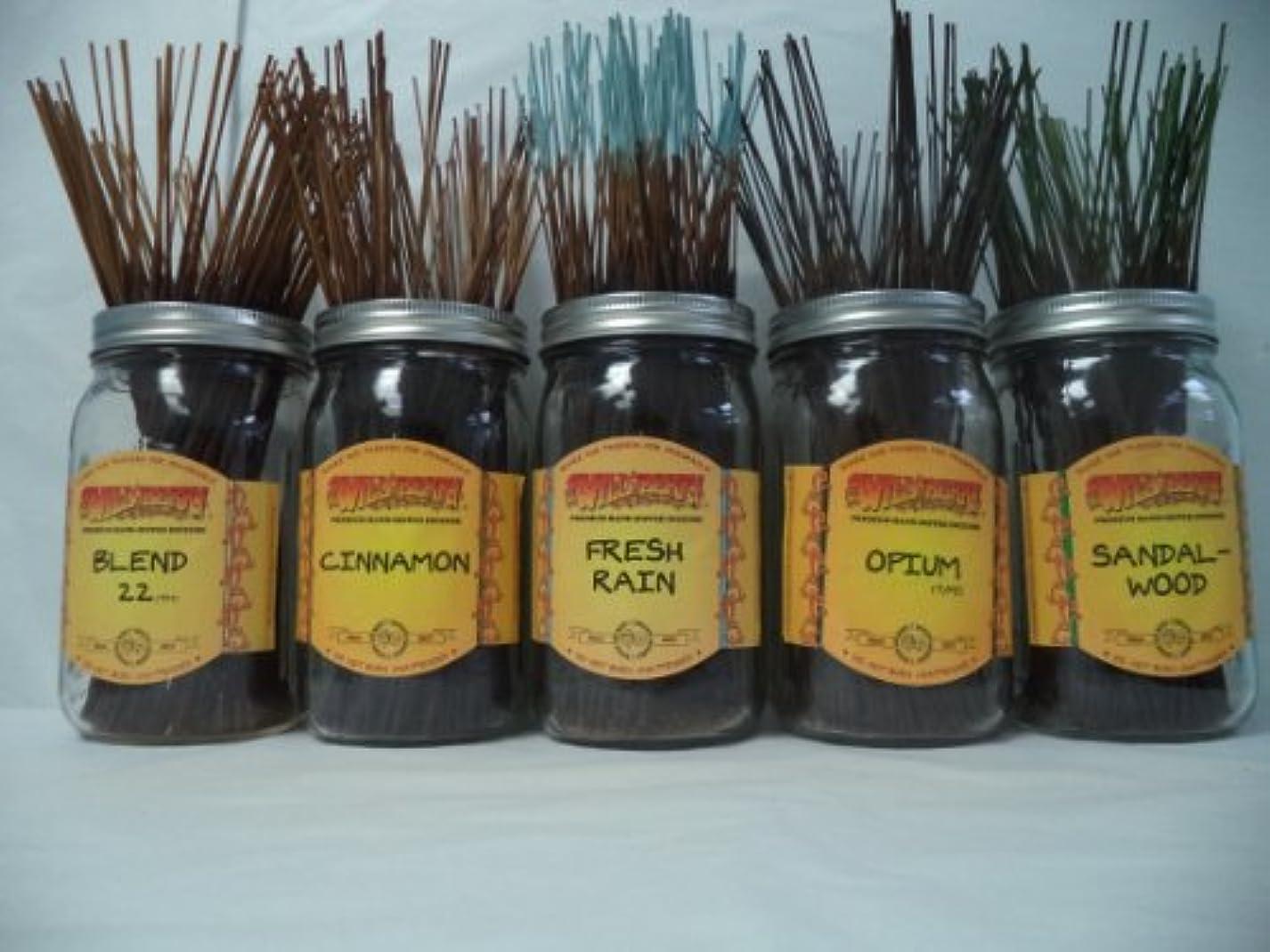 直立追放する種をまくWildberry Incense Sticks Best Sellerセット# 3 : 10 Sticks各5の香り、合計50 Sticks 。