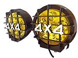 6インチ LED フォグランプ ドライビングライト 2個セット 四駆 4WD (イエロー)
