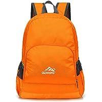 Baosity Men Women Foldable Travel Shoulder Bag Camping Backpack Rucksack 20L Orange