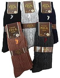 【polo6 (ウエスタン ポロ テキサス)WESTREN POLO TEXAS カラーおまかせ くつした 靴下 ソックス 2×6の12足セット】