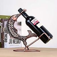 ヨーロッパのワインラッククリエイティブレトロ錬鉄製の装飾品ホームワインキャビネットデスクトップストレージ金属製のボトルラック鍛造ワインシェルフ屋内の居間キッチンディスプレイスタンド
