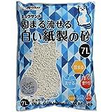 クリーンミャウ クリーンミュウ固まる流せる白い紙製の砂 7L