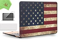 """ueswill 3in1Smooth柔らかい手触りマットつや消しハードシェルケースwithシリコンキーボード+スクリーンプロテクターカバーfor MacBook Air +マイクロファイバークリーニングクロス MacBook 12"""" UES07F12M3-25"""