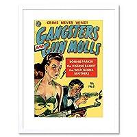 Comics Gangster Gun Molls Bonnie Parker Gun Framed Wall Art Print 漫画パーク壁